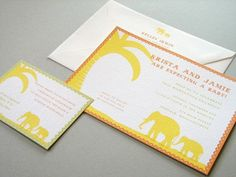Little Elephant Invites 10 sets by Earmark on Etsy, $ 35.00