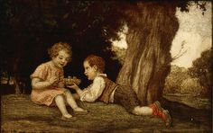Ludwig Zumbusch (German, 1861-1927). Children with a Bird's Nest, n.d. Charles and Emma Frye Collection, 1952.218