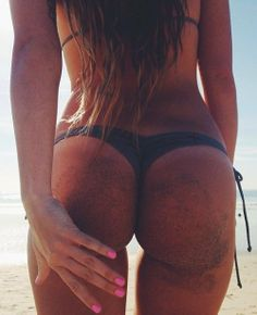 Ass butt booty - Sandy bottom thong bikini