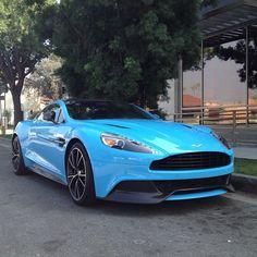Bubblegum Blue Aston Martin!