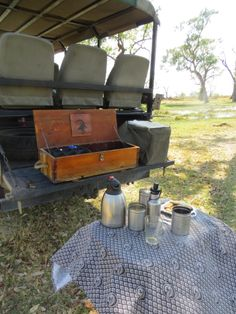 #Safari #coffeebreak -- #CampMoremi offers spectacular game viewing via 4X4 motor drives or motorboat. #MoremiGameReserve, #Botswana, #Africa