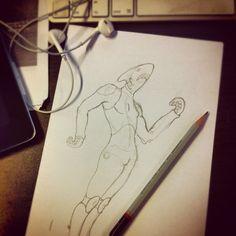 Surfer metamorfosis #draw #doodle