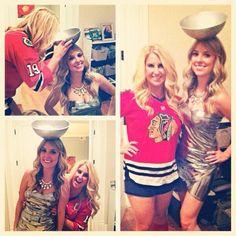 Chicago Blackhawks & Stanley Cup costume (Photo by: Twitter fan @SarahSkoDuh) #HockeyHalloween