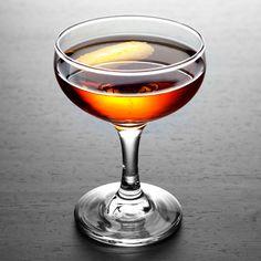 The Greenpoint  2 oz Rye whiskey  .5 oz Yellow Chartreuse  .5 oz Sweet vermouth  1 dash Angostura Bitters  1 dash Orange bitters