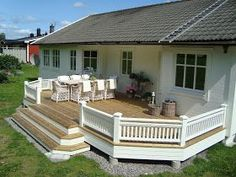 Altanräcke IV (over and out) Deck Stairs, Deck Railings, Outdoor Landscaping, Backyard Patio, Outdoor Rooms, Outdoor Living, Outdoor Decor, Patio Deck Designs, Cool Fire Pits