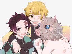 Tanjiro x zenitsu x inosuke Demon Slayer, Slayer Anime, Gekkan Shoujo Nozaki Kun, Deadman Wonderland, Natsume Yuujinchou, Usui, Fandoms, Another Anime, Anime Demon