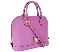 Dooney & Bourke Saffiano Leather Zip Zip Satchel / QVC.com