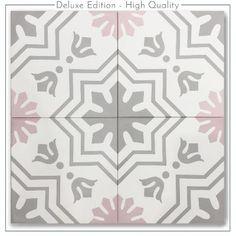 Floor Patterns, Tile Patterns, Key West Cottage, Pink Vanity, Style Tile, Small House Design, Color Pallets, Pattern Paper, Flower Art
