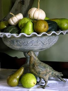 Love mixing pumpkins and pears