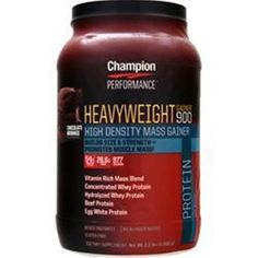 You Get More & Better Quality Supplements for your Money!  CHAMPION NUTRITION Heavyweight Gainer 900 3.3 lbs buy 1-2 or more items & save #CHAMPIONNUTRITION