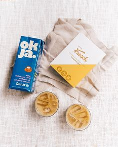 Iced Golden Oat Milk Latte ✨  A sweet and spicy combination of our Turmeric/Chai blend with @olaokja Oat milk - recipe live on the blog 😍 But that's not all!  We'll be including 1 litre OKJA free in the next 24 Fresch orders.... so get ordering 😉  #yeschplease #superfresch #freschonline #oatmilk #dairyfree #goldenmilk Golden Milk, Sunflower Oil, Sweet And Spicy, Chai, Turmeric, Latte, Dairy Free, Tableware, Blog