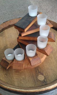 Adorable 49 Awesome Diy Wine Barrel Projects Ideas That You Need To Have Diy Furniture Projects, Handmade Furniture, Rustic Furniture, Furniture Design, Wine Barrel Lazy Susan, Wine Barrel Crafts, Whiskey Barrel Furniture, Barris, Winery Tasting Room