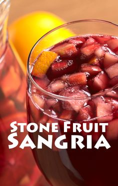 Carla Hall's stone fruit sangria is an interesting drink/snack ...