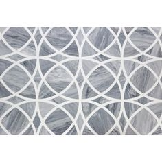 We like the movement in this tile, but it may be too busy. Celtic Bardiglio And Thassos Marble Tile Stone Mosaic Tile, Stone Backsplash, Marble Mosaic, Mosaic Tiles, Kitchen Backsplash, Backsplash Ideas, Mosaics, Tiling, Tile Ideas