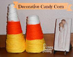 Candy Corn Craft! Easy DIY Fall Decor!