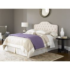 out of all places, I find the headboard I want at Walmart!!! :) Fashion Bed Group Martinique Full/Queen Headboard, Ivory