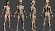 ArtStation - Slim female basemesh, Eugene Fokin