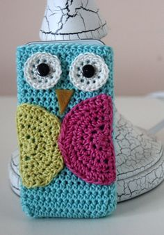 Owl Cell Phone Cover Crochet IPhone by kylieB on Etsy, $18.00