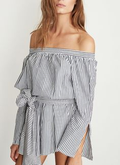 COVE STRIPE PRINT - BISQUE PLAYSUIT