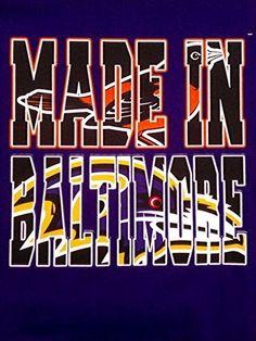 Made in Baltimore T Shirt Baltimore Ravens Orioles Shirts Gilden Shirt | eBay