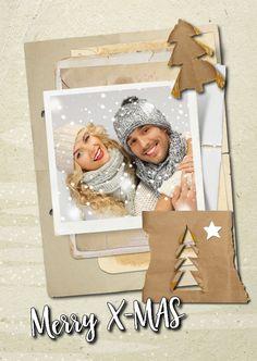 Kerstkaart trendy papers - SG, verkrijgbaar bij #kaartje2go voor €1,89