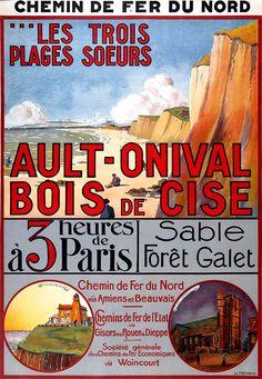 Affiche chemin de fer du nord - Ault - Onival - Bois de Cise -