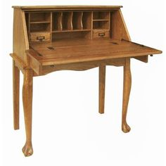 Chelsea Home Nolan Secretary Drop Leaf Desk & Reviews | Wayfair