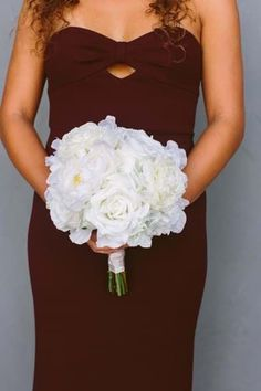 #Sponsored The Audrey bridesmaid bouquet is a round nosegay bouquet, made of mixed ivory and white flowers. It features peonies, peony buds, ranunculus, hydrangeas, and beautiful full-blown roses. Premium silk florals. Rent Your Wedding Flowers from Something Borrowed Blooms and save over 70%!