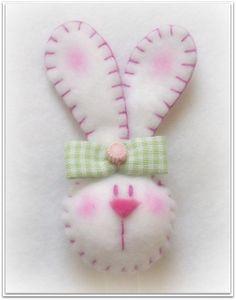 Felt bunny face