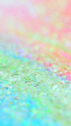 pastel colors . glitter