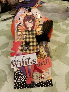 prima doll tag - wings