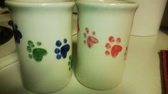 Our favorite coffee mugs. These are just the right size and shape. We always go to these first.