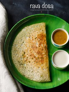 rava dosa recipe with step by step photos and video. rava dosa is a popular south indian dosa variety. making rava dosa is very easy and the best part is that no grinding or fermentation is required. the recipe shared here gives crispy rava dosa. Veg Recipes Of India, Indian Food Recipes, Vegetarian Recipes, Snack Recipes, Cooking Recipes, Vegetarian Breakfast, Cooking Food, Cooking Tips, Instant Dosa Recipe