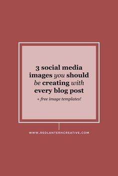 You should be creating at least 3 social media images for every blog post. I'll show you which platforms you need to create images for. Plus, I've got freebies!