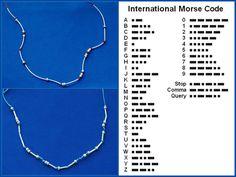 DIY Morse Code Bracelets.