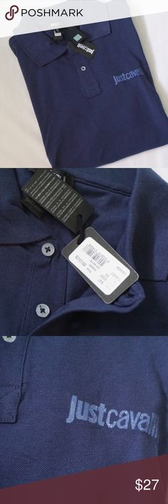 BRAND NEW JUST CAVALLI MEN POLO -BRAND NEW WITH TAG -COLOR:  NAVY -DESCRIPTION: 100%COTTON            ⭐RATED SELLER  👍FAST SHIPPER NEXT DAY SHIPPING  ❌NO TRADE ❌NO PAYPAL ✅BUNDLE OFFER Just Cavalli Shirts Polos