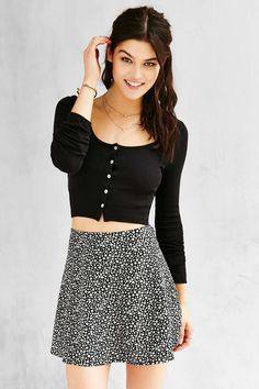 5967af8d769db Truly Madly Deeply Clarissa Cropped Long-Sleeve Top - Urban Outfitters  Urban Fashion Trends