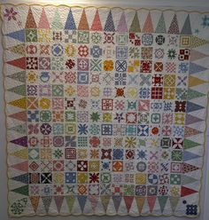 Dear Jane made by Lisa Salonia owner of Lisa's Clover Hill Quilts in Berlin, Ct.  She is now making her 3rd Dear Jane quilt!
