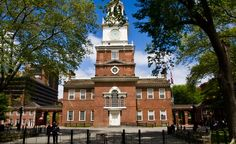 Philadelphia's Independence Hall, where the Declaration of Independence was signed in July, 1776.