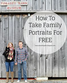 How to take family portraits for FREE