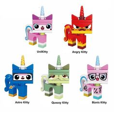 Single Sale Supe Heroes Unikitty Angry Astro Queasy Biznis Kitty Wearing Glasses And Suit Building Blocks Children Toys Lego Dog, Toddler Arts And Crafts, Fashion Design Sketchbook, Pony Drawing, Batman Figures, Toy Collector, Custom Lego, Lego Movie, Lego Building