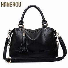 900a65c83 Large Handbags 2018Women Bag Fashion PU Leather Woman Shoulder Bag Casual  Tassel Tote Bags Sac A Main Femme Bolsa Feminina Couro-in Top-Handle Bags  from ...