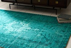 turquoise worn away rug from one kings lane