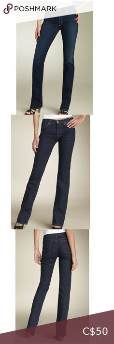 """J BRAND 805 The Straight Leg' Stretch Jeans Ink 25 NWOT J BRAND 805 The Straight Leg' Stretch Jeans in Ink •size 25 •8.5"""" rise Sleek, dark-rinse stretch jeans are styled with a slightly higher rise and a straight-leg cut that subtly widens near the hem to flatter a variety of figures. Zip fly with button closure. Five-pocket style. Belt loops. Back yoke. Cotton/spandex; machine wash. By J Brand; made in the USA. Factory Sample* J BRAND 805 The Straight Leg' Stretch Jeans Ink 25 J Brand Jeans… Slim Fit Dress Shirts, Slim Fit Dresses, Fitted Dress Shirts, J Brand Jeans, Jeans Brands, Dark Blue Skinny Jeans, Leg Stretching, Button Fly Jeans, Striped Leggings"""
