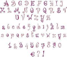 Alphabet à broder au point de croix. Retrouvez le diagramme gratuitement ici [http://swappons.kazeo.com/les-alphabets-de-sof/spikedelik,a391436.html]