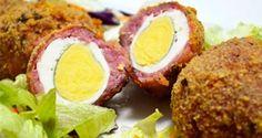 Receta de huevos escoceses | Hosteleriasalamanca.es Baked Potato, Carne, Potatoes, Eggs, Beef, Baking, Breakfast, Ethnic Recipes, Google