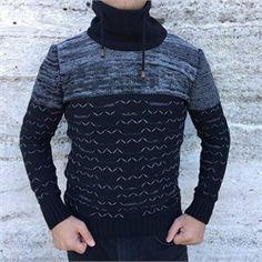 Erkek balıkçı yaka boğazlı siyah triko kazak modellerini kapıda ödeme veya taksit ile Outlet Çarşım'dan satın al.