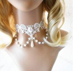 romantic wedding jewelry handmade unique white lace chokers necklaces vintage victorian women necklace 2013 new jewelry collars $8.30 - 9.98