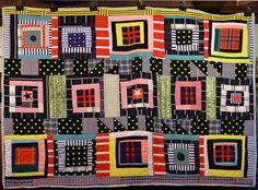 Eli Leons improv quilt by daintytime, via Flickr