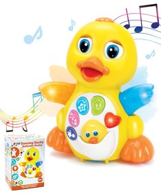 JOYIN Dancing Walking Yellow Duck Baby Toy with Music and LED Light Up for Infants, Toddler Interactive Learning Development, School Classroom Prize and Children ** Find out more about the great product at the image link. (This is an affiliate link)